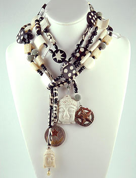 Sharyn Wolf African Bead Necklace